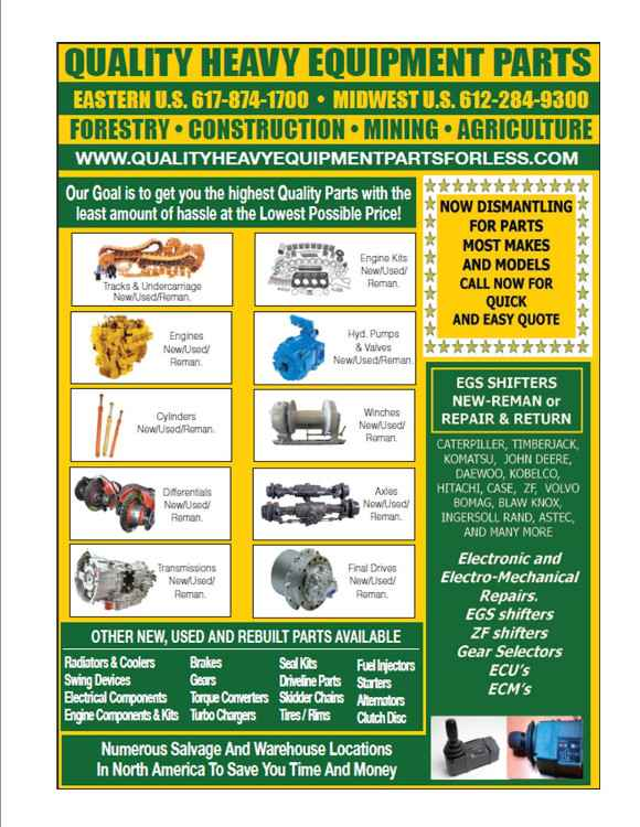 QUALITY HEAVY EQUIPMENT PARTS FOR LESS | Forestry Equipment Sales