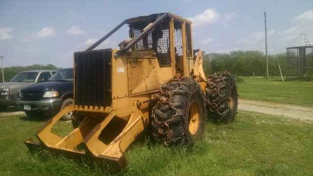 John Deere 540e Cable Skidder Sold Minnesota