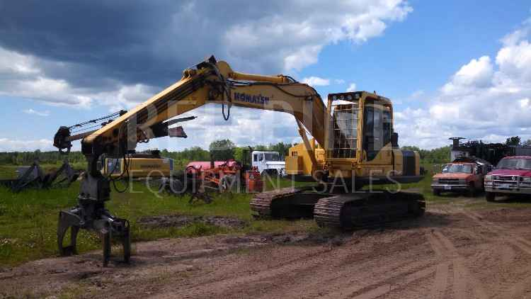 Komatsu PC200 LC-7 Excavator with Continuous Grapple