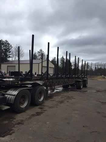 Transcraft 48' Bunk Spread Axle Rail Trailer