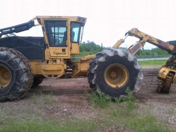 Tigercat 630B Dual Arch Grapple Skidder