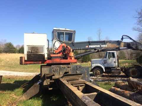 Prentice 410EX Loader with CTR Delimber and Ground Saw