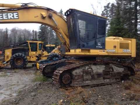 2003 john deere 2554 processor road builder log loader ontario