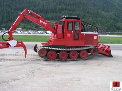 KMC 1600H Swing Grapple Track Skidder
