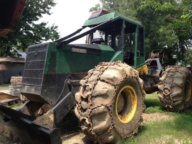 Timberjack 450c Cable Skidder Minnesota Forestry