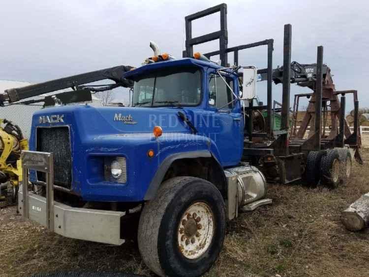 Mack Log Truck w/ Prentice 120E Loader & Pup Trailer *SOLD