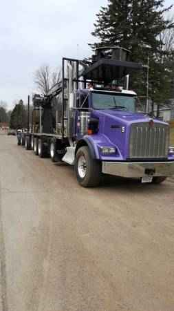 Kenworth 5 Axle Log Truck with 2015 Rosa Trailer***SOLD***