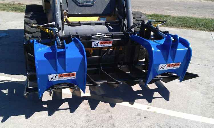 Skid Steer Brush and Log Grapple