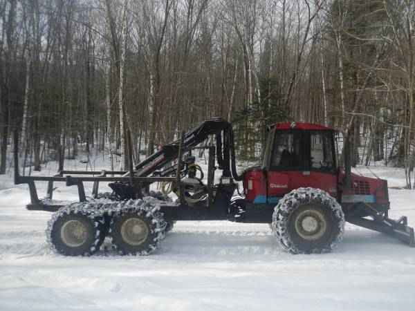 Valmet 840 6 Wheeled Forwarder