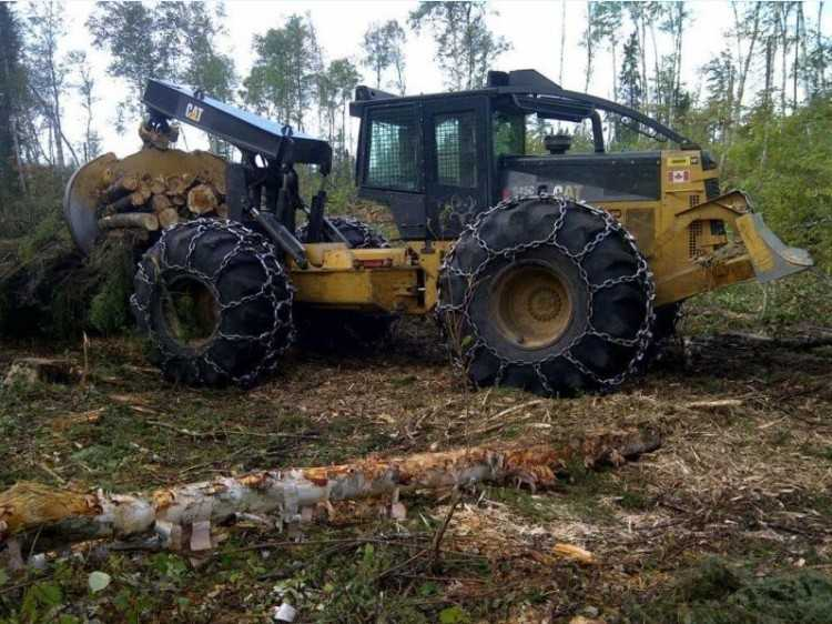 CAT 545C D/A Grapple Skidder