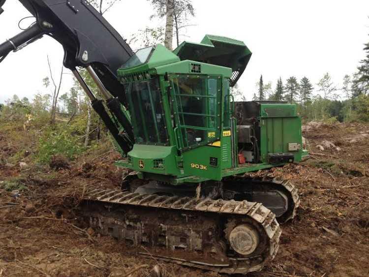 John Deere 903k Feller Buncher Sold Minnesota
